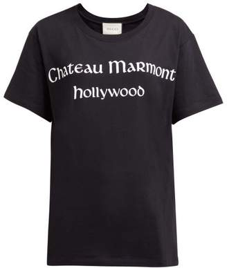 Gucci Chateau Marmont Hollywood Cotton T Shirt - Womens - Black Multi