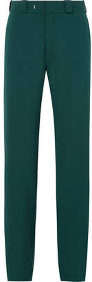 Vetements High Heel Cutout Twill Straight-leg Pants - Forest green