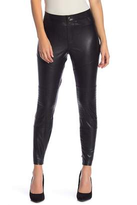 Hue Moto Faux Leather Skimmer Leggings