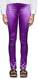 Comme des Garcons Junya Watanabe Women's Satin-Finished Leggings - Purple