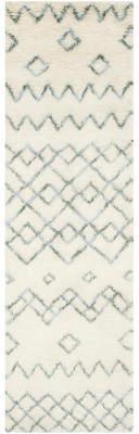 Lockheart Mistana Geometric Hand-Tufted Beige/Blue Area Rug
