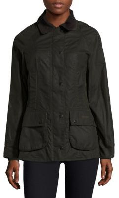 Barbour Classic Beadnell Waxed Cotton Jacket $399 thestylecure.com