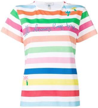 Mira Mikati striped graphic T-shirt