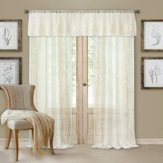 "Addison Curtain Set with Semi-Sheer Panel, 52"" x 84"""