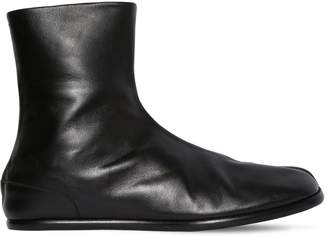 Maison Margiela Brushed Leather Tabi Boots