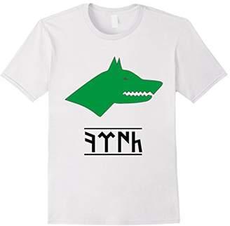 Gokturk Flag T- shirt Grey Wolf Gokturk Script Ottoman Shirt
