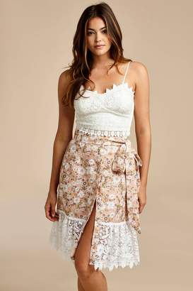 Miguelina Frances Micro Hibiscus Lace Top