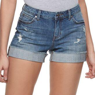Women's Jennifer Lopez Cuffed Jean Shorts $44 thestylecure.com
