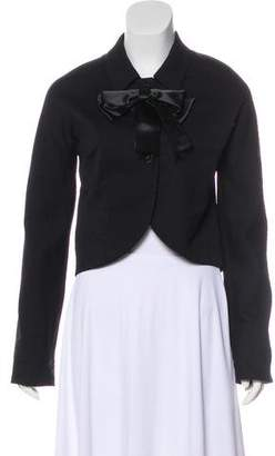 Marc Jacobs Bow-Accented Wool-Blend Jacket