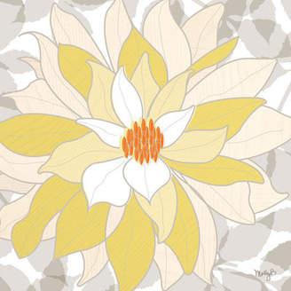 Dahlia GreenBox Art 'White Dahlia' by Molly Bernarding Graphic Art on Wrapped Canvas