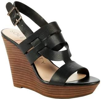 Sole Society Platform Wedge Sandals - Jenny