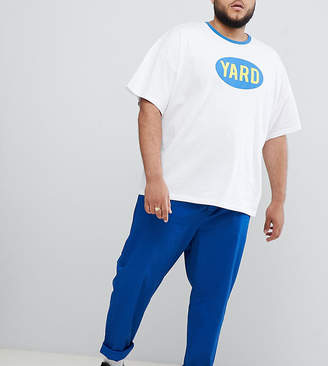 Asos DESIGN Plus relaxed chinos in royal blue