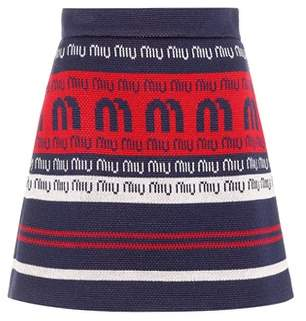 Miu Miu Striped wool-blend miniskirt