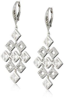 "Judith Jack ""Earristable Wonders"" Sterling Silver/Swarovski Marcasite and Cubic Zirconia Chandelier Drop Earrings $150 thestylecure.com"