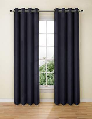 Marks and Spencer Pure Linen Eyelet Curtains