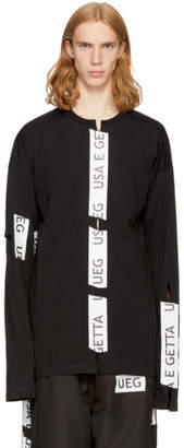 Ueg Black Taped Slits Sweatshirt