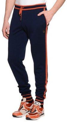 Stefano Ricci Contrast-Trim Drawstring Jogging Pants, Navy $2,795 thestylecure.com