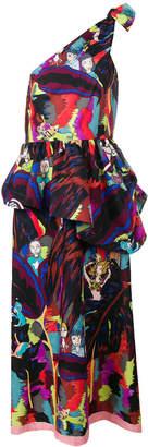 Tsumori Chisato printed one shoulder dress