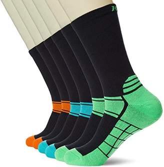 Kold Feet Men's 6 Pairs Performance Comfort Fit Crew Socks Size L BlueGreenRed
