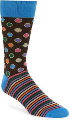 Bugatchi Dot & Stripe Socks