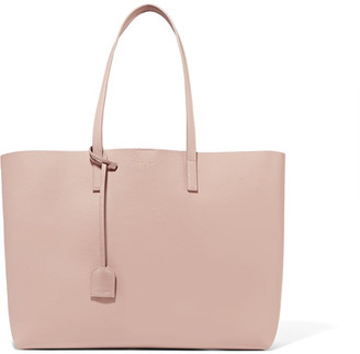Saint Laurent - Shopping Large Textured-leather Tote - Blush $995 thestylecure.com