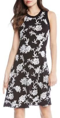 Karen Kane Embroidered Knit Dress