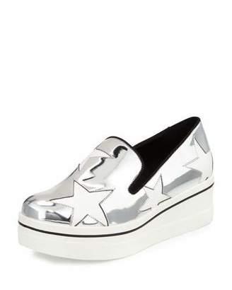 Stella McCartney Binx Metallic Star Loafer, Indium/White