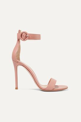 Gianvito Rossi Portofino 105 Leather Sandals - Antique rose