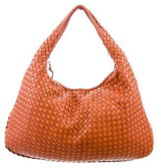 Bottega Veneta Bicolor Medium Intrecciato Veneta Hobo