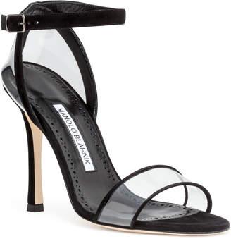 Manolo Blahnik Dandolo black suede sandals