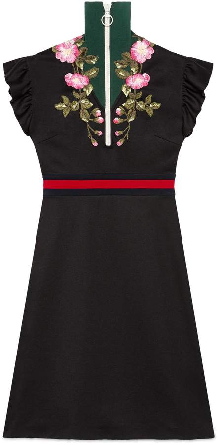 GucciEmbroidered jersey dress