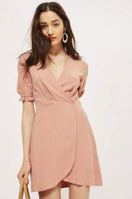 **Linen Puff Wrap Dress by Nobody's Child