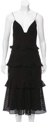 Cushnie et Ochs Eyelet Midi Dress w/ Tags
