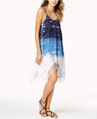 Raviya Tie-Dyed Fringed Cover-Up Women's Swimsuit