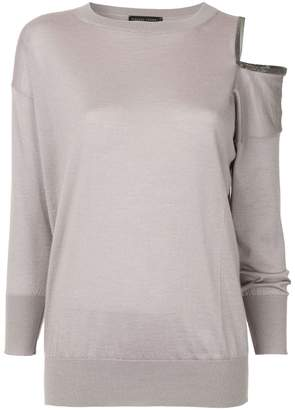 85d6895ddf7106 Pink Cold Shoulder Women s Sweaters - ShopStyle