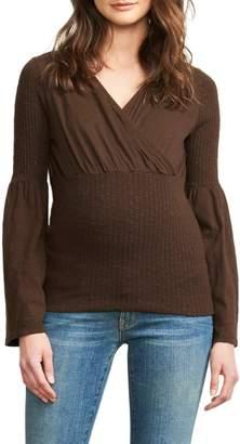 Maternal America Maternal American Belly Hug Knit Maternity Top