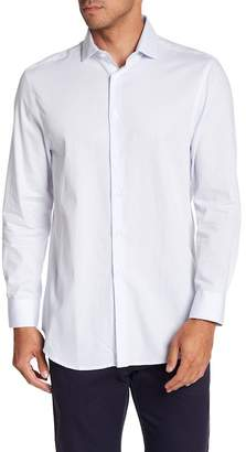 Michelson's Micro Stripe Long Sleeve Slim Fit Shirt