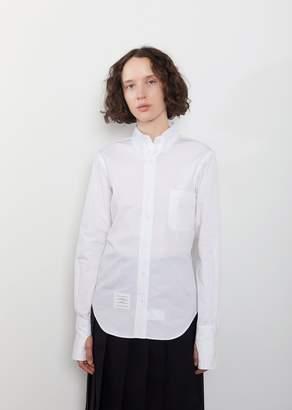 Thom Browne Egyptian Cotton Poplin Oversized Shirt White