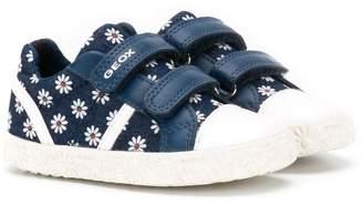 Geox Kids floral print sneakers