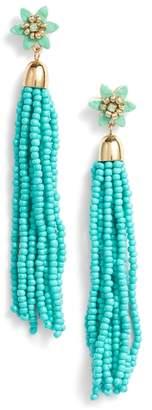 Rebecca Minkoff Calla Beaded Tassel Earrings