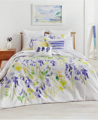 Bluebellgray Closeout! bluebellgray Bluebell Woods Cotton Reversible Full/Queen Duvet Set Bedding