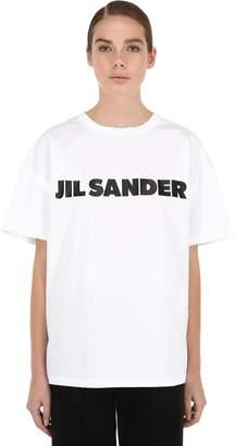Jil Sander (ジル サンダー) - JIL SANDER ロゴプリント コットンジャージーTシャツ