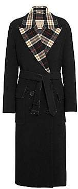 Burberry Women's Aberdare Double-Face Plaid-Lined Wool& Cashmere Coat