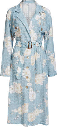 Lulu We Are Kindred Broderie Anglaise Cotton Trench