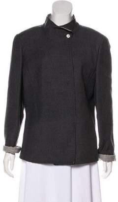 Valentino Wool-Blend Button-Up Jacket