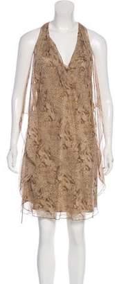Haute Hippie Silk Midi Printed Midi Dress