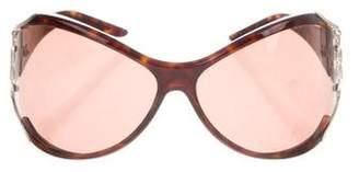 Saint Laurent Tortoiseshell Round Sunglasses