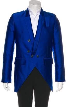 Ann Demeulemeester Silk-Blend Asymmetrical Sport Coat