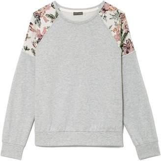 Vince Camuto Tapestry-shoulder Sweatshirt