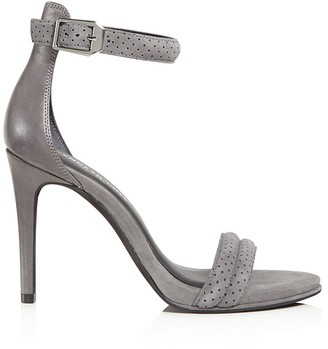 Kenneth Cole Brooke Brooke Perforated Suede High Heel Sandals $130 thestylecure.com